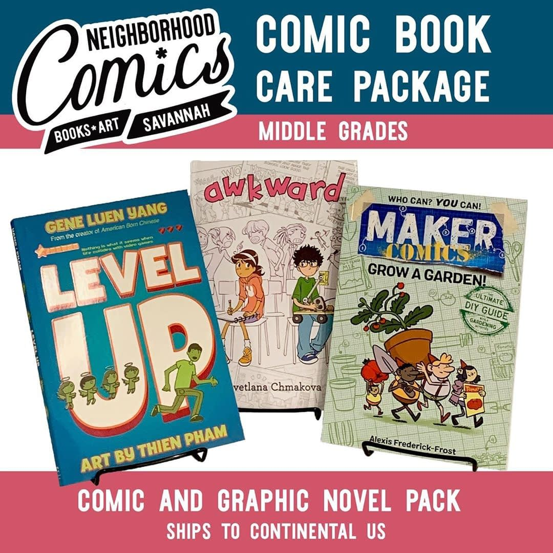 Our comic book care packages are here for the rescue! Kids stuck at home? Give them something to read and cherish. We've assembled special packs geared toward elementary, middle and high schoolers. Shop the post by swiping to your preferred collection, click on the image and follow the link.