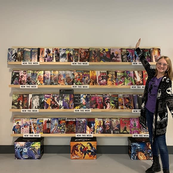 New comic book day is (finally) here! Thanks for your patience! Folders are full and the wall is overstocked. Clean us out!
