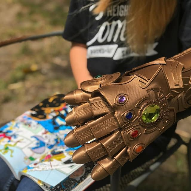 """""""Fun isn't something one considers when balancing the universe…"""" We'll see you in ONE WEEK at @whitewhalesav for our comic shop pop-up. So many books, and yes, an Infinity Gauntlet! Details at our Facebook page * More at NeighborhoodComics.com"""