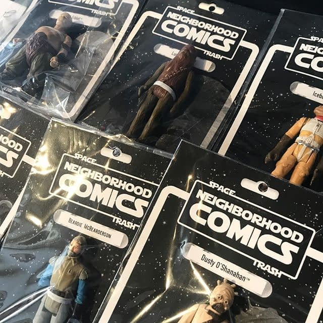 Space Trash! We've got a broad assortment of well played with Star Wars action figures all carded up and ready for new forever homes. Looking for someone in particular? Let us know! Or, make it fun and ask for a random figure. Lumpy's Dad, Colt Jackson, Esq and Mystery Pete now shipping