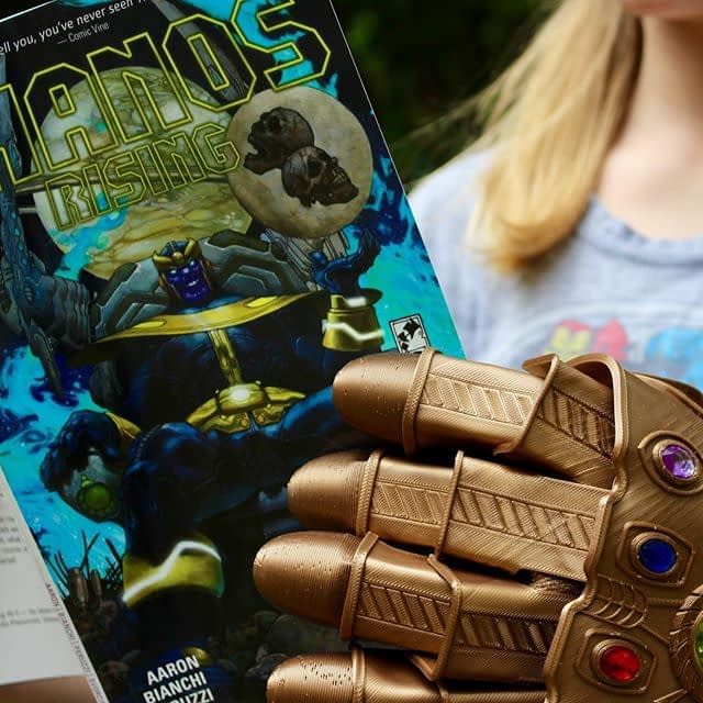 This Saturday! Thanos is almost here… Join us at @whitewhalesav for our comic shop pop-up filled to the brim with Avengers titles