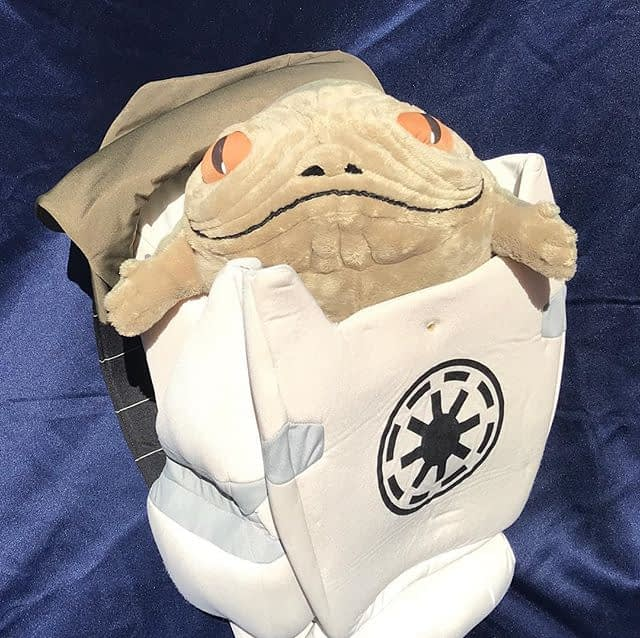 """Cute overload! Rotta the Huttlet (or as Ahsoka calls him, """"Stinky"""") is up now on our eBay store! Perfect for your young Ahsoka cosplay needs. Just in time for the return of Clone Wars!"""