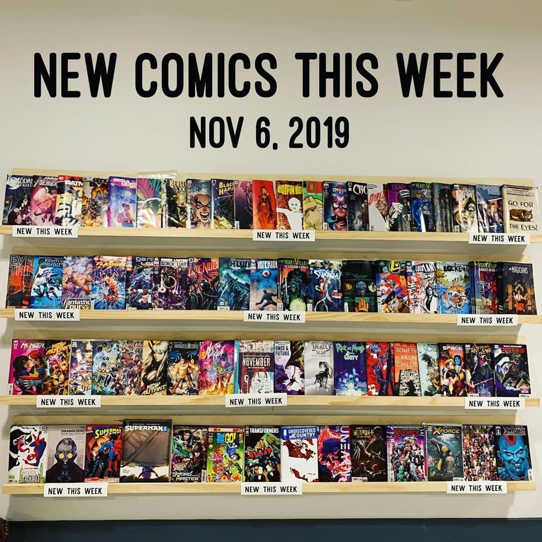 The wall is stocked! This week's new comics will be waiting for you at 11AM tomorrow morning. Sweet dreams!