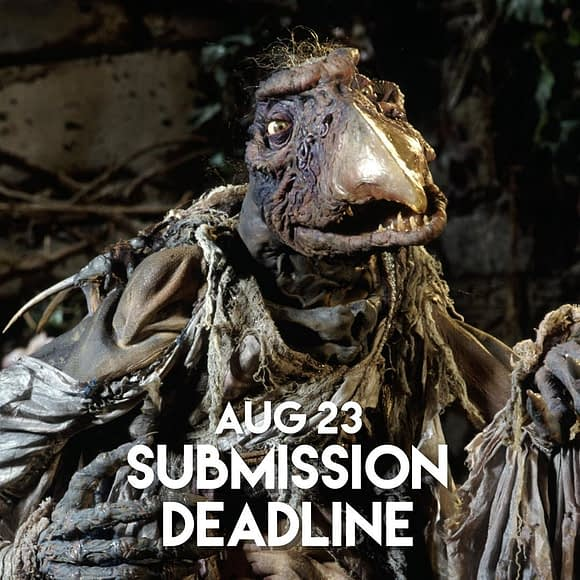 August 23 is the submission deadline for our next gallery show: Artwork inspired by The Dark Crystal! Don't wait until the last minute, get those submissions in early. Mmmmm-mmmmm