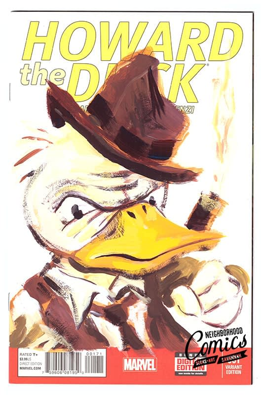 Brian Ralph Comic Book Sketch Covers Howard the Duck