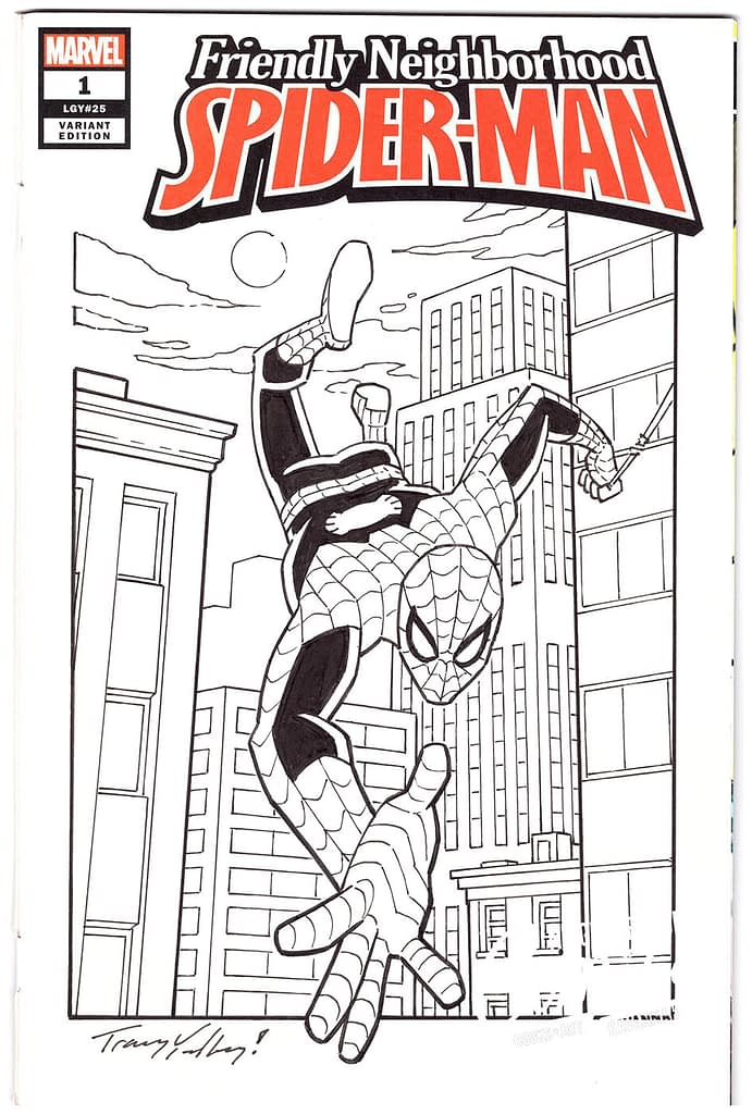 Tracy Yardley Spiderman Comic Book Sketch Covers