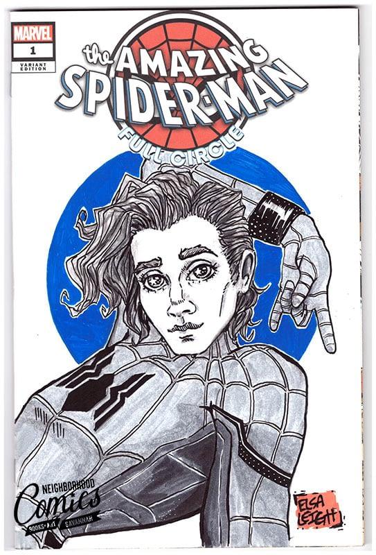 Comic Book Sketch Covers Elsa Leigh