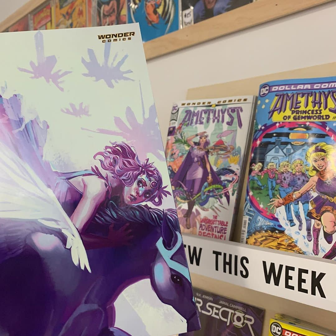 It's new comic book day and Lee's pick of the week is #1! This gorgeous book by @amyreedercomics is a blast for any 80s-era @dccomics fan or teen/tween looking for a gateway monthly series. Stop in and give it a shot.