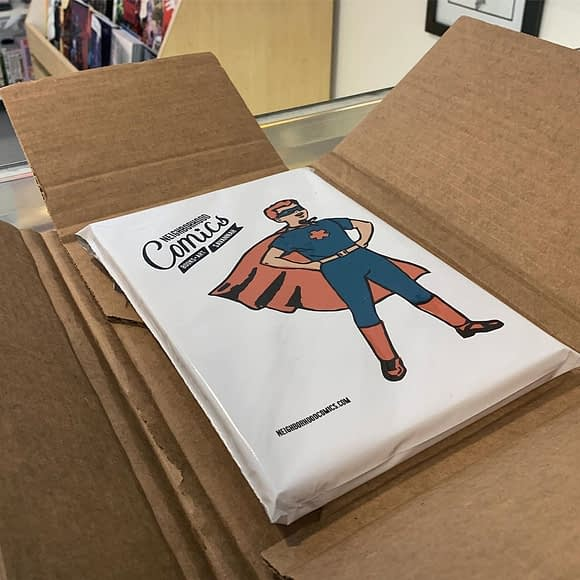 We ship it! You can purchase from our website or in store and have comics mailed anywhere in the world. Perfect for camp care packages, birthday gifts or no reason at all!