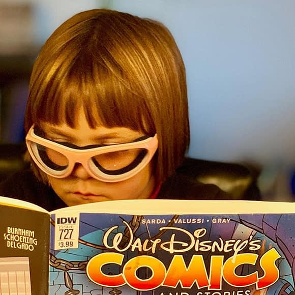 Comics are for everyone! Need a recommendation? Looking for a gift? We're happy to find the perfect book for you. // Big thanks to @jasonmruby from @deltaparkproject for sharing this pic of one of our happy customers with us @idwpublishing * More at NeighborhoodComics.com