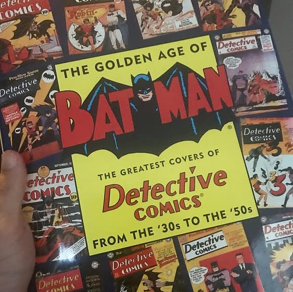 """Packing up this long out of print  beauty and sending it to a customer in Hawaii. This book of Golden Age Batman covers features """"real life"""" scans of vintage comics complete with pencil markings and other wear and tear. Only one Sheldon Moldoff cover (swipe!) which is a shame * More at NeighborhoodComics.com"""
