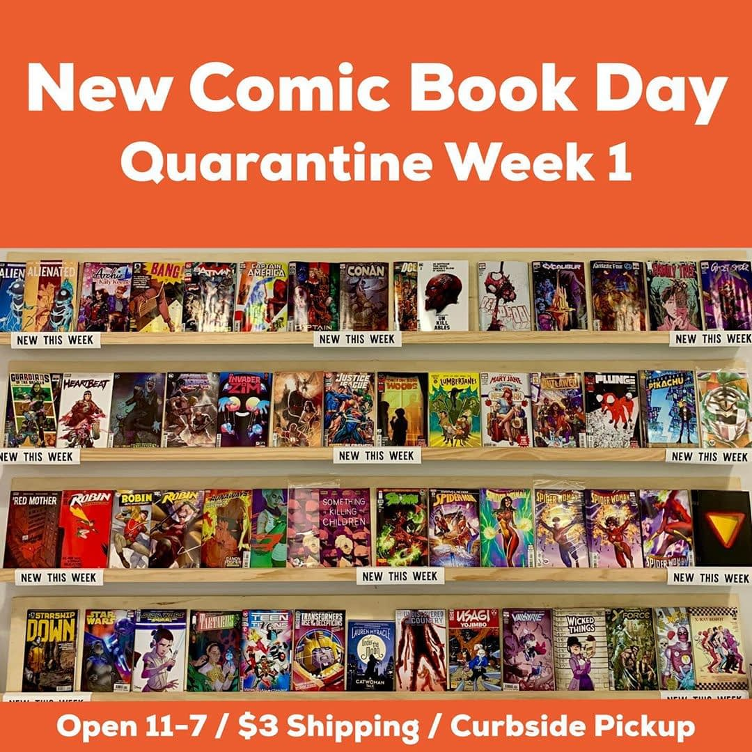 Quarantine or not, new comics roll on! Subscribers, check your email for all of your pickup options. Open 11-7 tomorrow for all your comic buying needs. Highlights include 1 (with a sweet @chip_kidd cover), the new graphic novel by @myraclegirl and the 80th anniversary one-shot