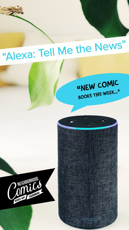 Alexa Echo comic book app